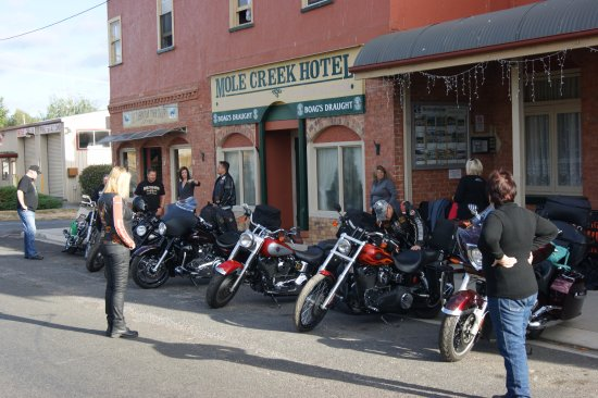 Mole Creek, Australia: A popular stopover for motor bike riders
