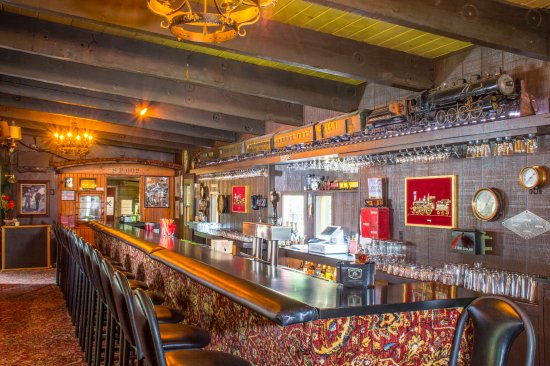 The Dining Cars At Railroad Park Resort Our Themed Bar And Restaurant Made Up