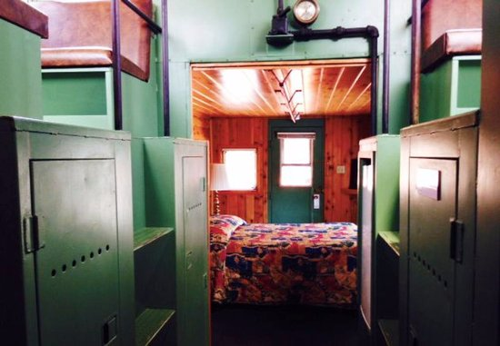 Railroad Park Resort Dinner House and Lounge: Inside a caboose with a copula