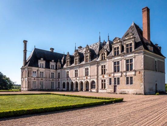 Cellettes, França: Le château coté accès aux pièces.