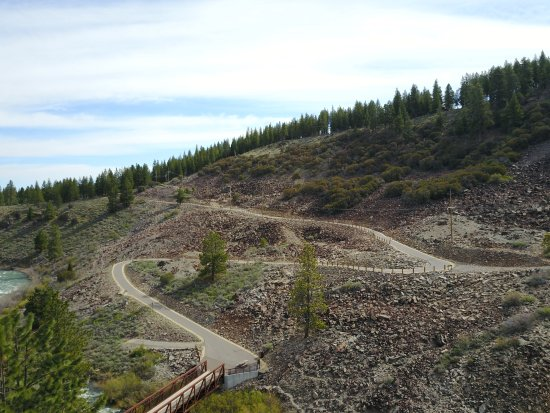 "Truckee, CA: Martis Creek Bridge and ""the hill"" at the end of the Legacy Trail"