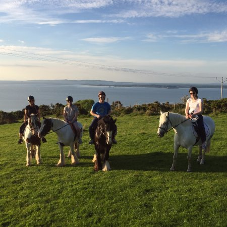 Camp, Ireland: Views from horseback overlooking Tralee, Brandon, Fenit, and much more