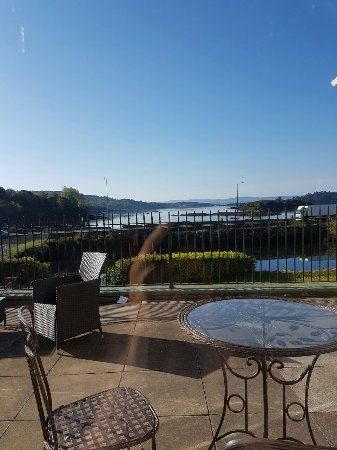 Eccles Hotel Glengarriff: Aussicht vom Frühstückstisch