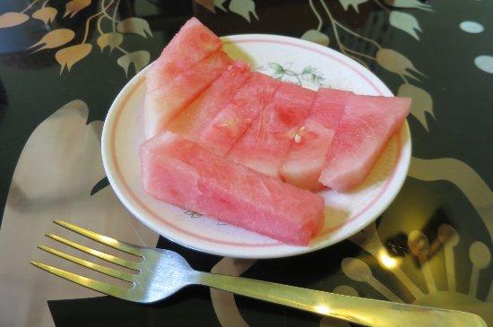 Sarang Mas Vacation Home: 朝食でいただいたスイカ