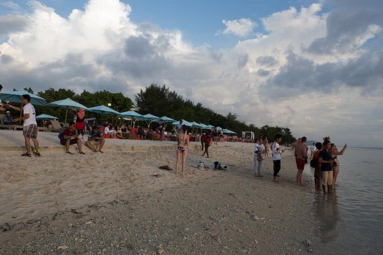 Gili Islands, Indonesia: the beach where everyone waiting for sunset...
