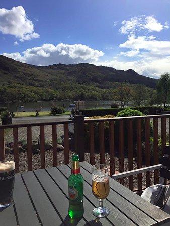 St. Fillans, UK: view from bar terrace