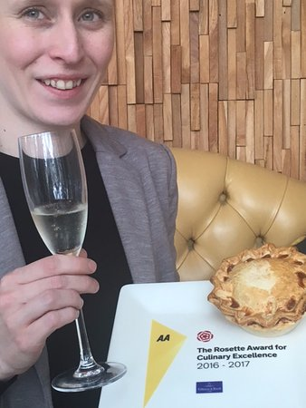‪‪Berkhamsted‬, UK: AA ROSETTE AWARD with a pie (Of course!)‬