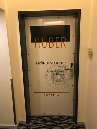"Hotel Rathaus Wein & Design: Each door individually tailored to an austrian ""winzer"""