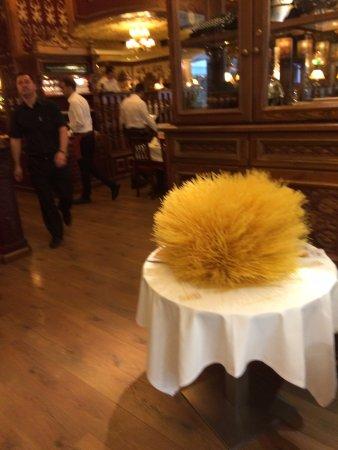 déco de spaghetti originale a l entée du restaurant - Picture of ...