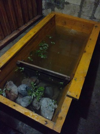 Paro District, Bhutan: Stone water Bath.  Must do in Bhutan
