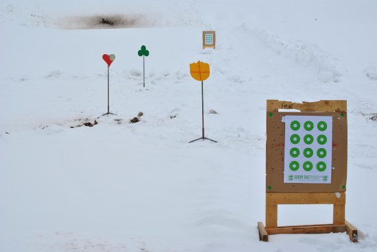 "‪‪Jackson Hole‬, ‪Wyoming‬: A few ""close-up"" targets - wintertime shooting!‬"