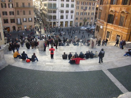 terrazza su piazza di Spagna - Foto di Trinità dei Monti, Roma ...