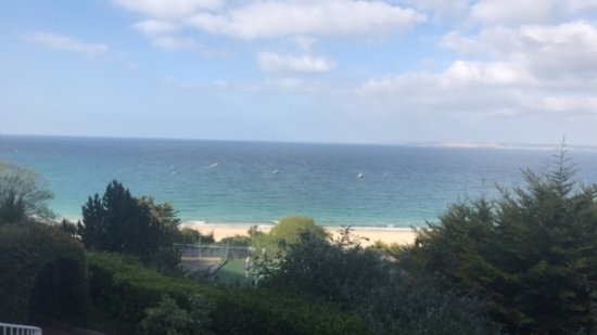 St. Ives Harbour Hotel & Spa: The view from our room