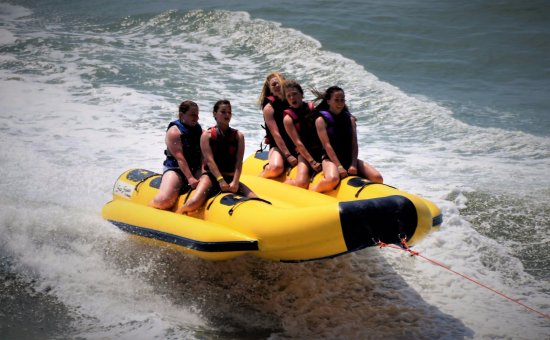 Crescent Shores : Banana Boat rides were awesome right in front of the resort.