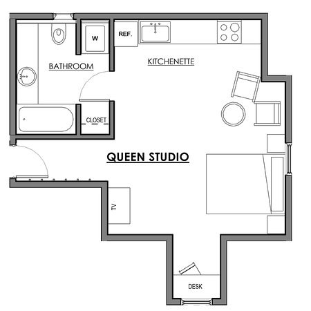 New Castle, Nueva Hampshire: Queen Studio layout