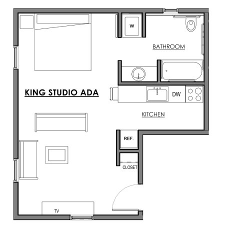 New Castle, NH: King Studio layout