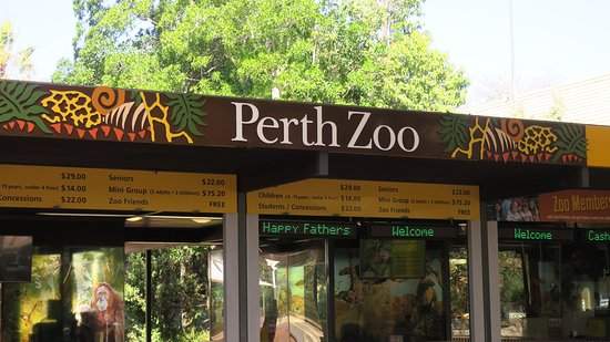 South Perth, Australië: 動物園の入り口