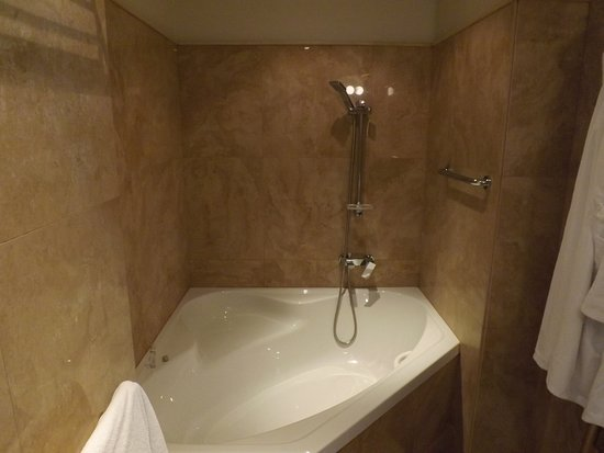 Hotel Grandezza: The large bath with low shower