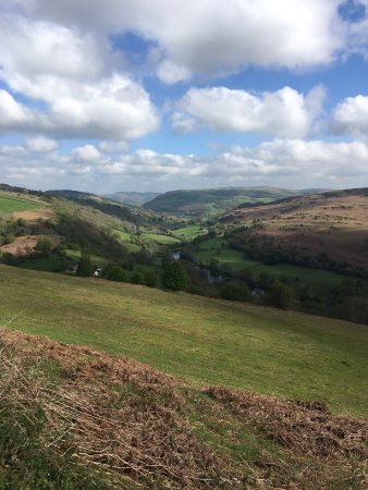 Erwood, UK: Walking on the hill just 10 mns from Hafod y Garreg