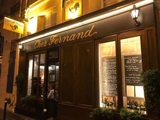 Chez Fernand Christine: Outside view
