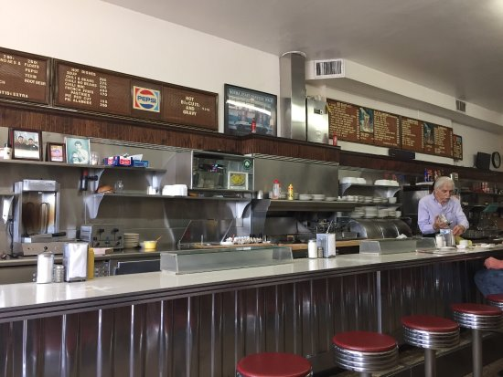 G-B Grill: Authentic classic diner. Eggs, pancakes, ham, hash browns and coffee were delicious. Owners were