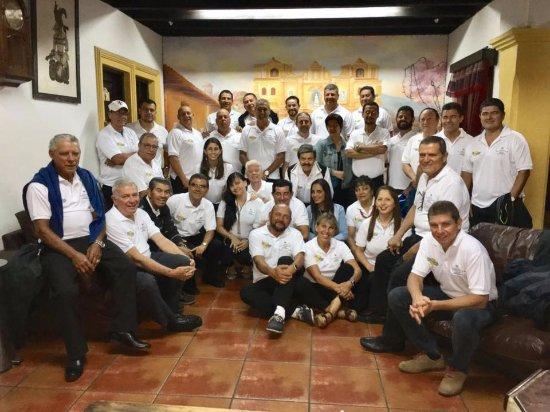 Hotel Posada Del Hermano Pedro: Foto en la recepción del hotel