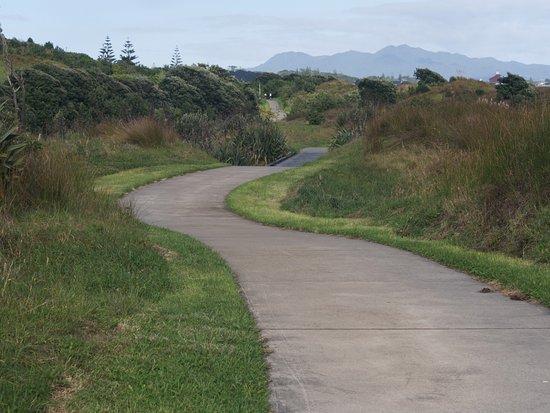 Coastal Path near the golf course, looking toward New Plymouth