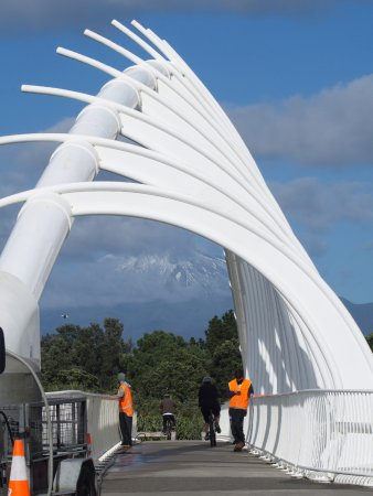 New Plymouth, Nowa Zelandia: Bridge cleaning and Taranaki