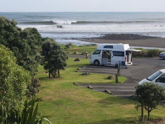 New Plymouth, Nowa Zelandia: Parking near Waiwhakaiho River jetty