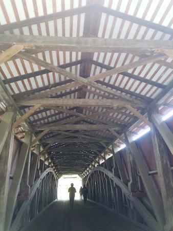 Strasburg, PA: inside the covered bridge