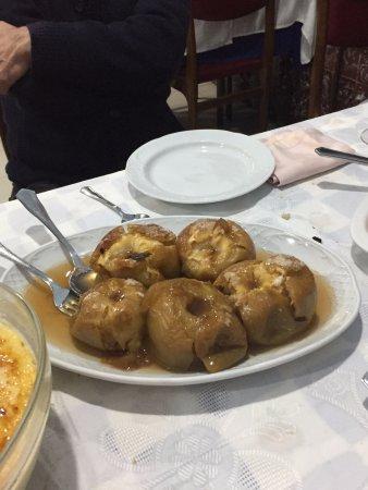 Restaurante El Cubano: manzanas asadas