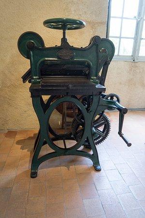 Sache, France: printing press