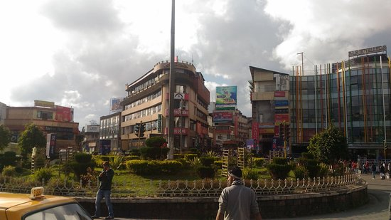 Police Bazar junction in the afternoon