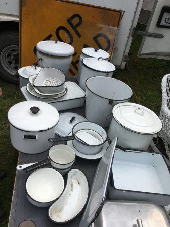 Brimfield, MA: Bundle of enamelware