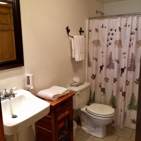 Victor, ID: Clean and comfortable bathrooms
