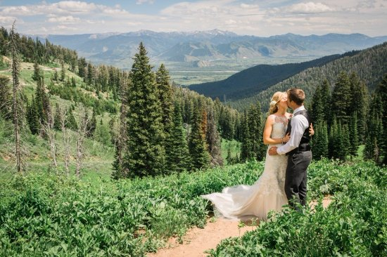 Victor, ID: Destination weddings are popular and cost effective on the West slope of the Tetons, here in Ida