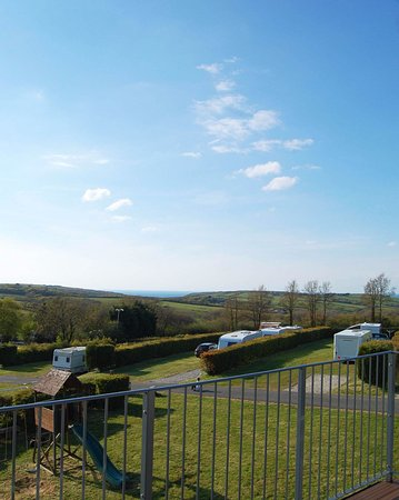 Cornish Coasts Caravan and Camping Park: View of Campsite from New Apartment