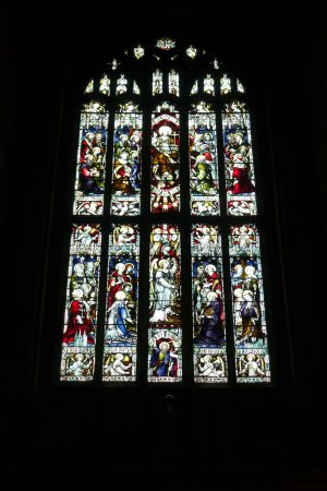 The Cathedral of the Peak: beautiful stained glass window.
