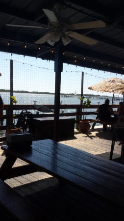 Oak Hill, FL: Shows part of the dining deck