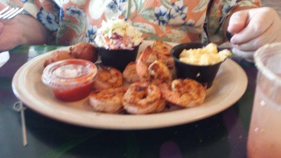 Oak Hill, FL: cracker shrimp, homemade coleslaw, cheese grits & hushpuppies