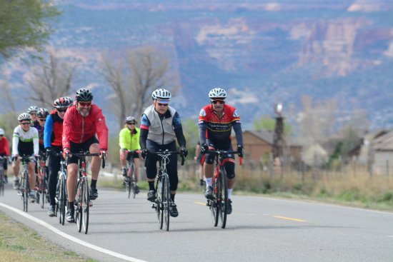 Weekly group road rides through the Fruita contryside