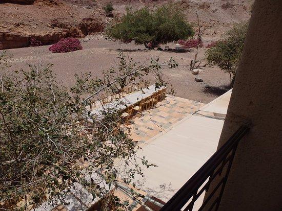 Dana, Jordan: view off our balcony