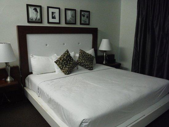 Harrison Hotel: Quarto. Cama grande, mas colchão muito mole.