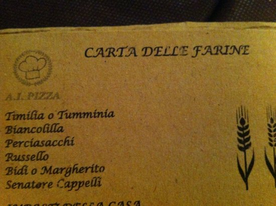 San Gregorio di Catania, Italy: menu'