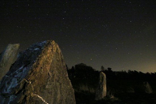 Grewelthorpe, UK: Stars over the stone circle