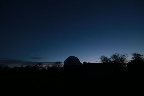 Grewelthorpe, UK: Sunset over the dome