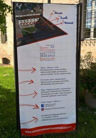 Банкавалло, Италия: Indicazioni all ingresso