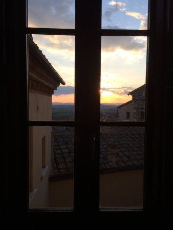 Castello delle Serre: View from a hallway window.
