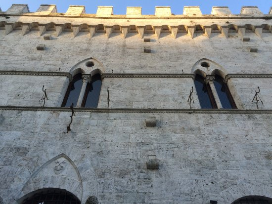 Castello delle Serre: Main facade of the castle at sunrise.