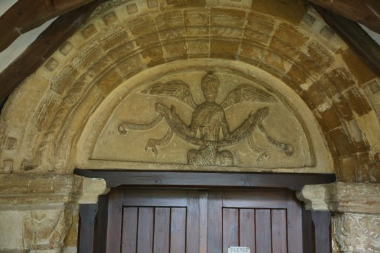 12th C Tympanum, St Mary's Church, Halford.